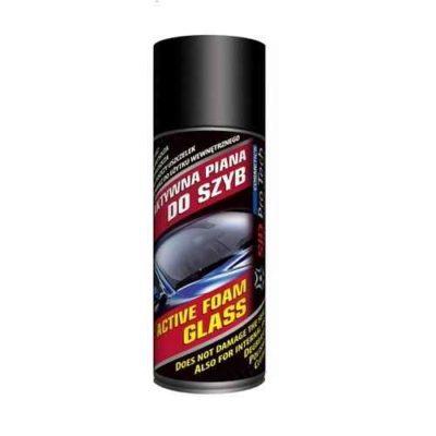 Pianka do czyszczenia szyb to nowoczesny i niezwykle skuteczny środek myjący do powierzchni szklanych Twojego auta Dzięki specjalnie wyselekcjonowanym składnikom aktywnym, skutecznie rozpuszcza i usuwa nawet najsilniejsze zabrudzenia szyb typu: tłuste plamy czy zaschnięte owady. Konsystencja aktywnej piany łatwo wnika w zanieczyszczenia, które rozpuszczone łatwo dają się usunąć za pomocą strumienia wody lub ściereczki.